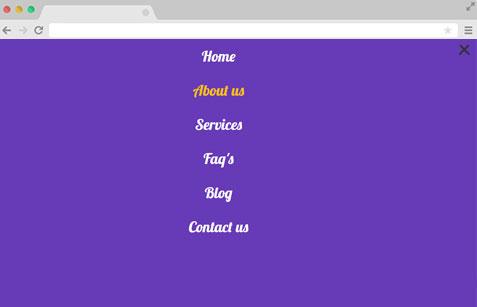Bootstrap sidebar nav menu example